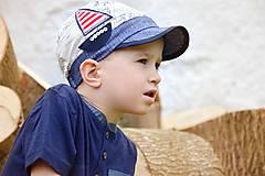 Detské čiapky - šiltovka malý moreplavec - 6797473_