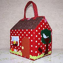 Hračky - Rozkladací látkový domček pre bábiky - 6798829_