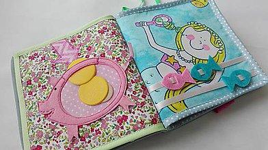 Hračky - Nežne ladená quiet book ( na objednávku ) - 6800157_