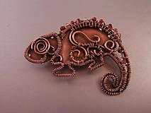 Odznaky/Brošne - Brošňa chameleón - 6803929_