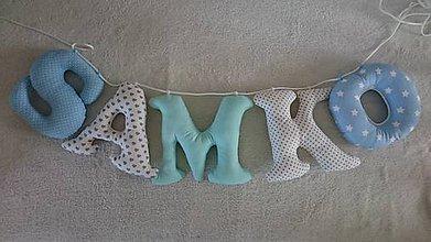 Dekorácie - Písmenká na stenu - Samko - 6802500_