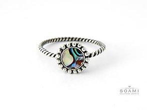 Prstene - CERTIFIKÁT 925 Striebrný prsteň s prírodnou perleťou - 6802646_
