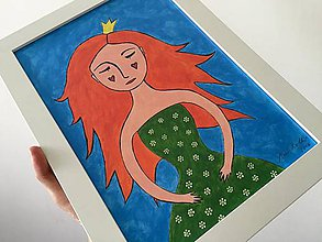Obrazy - Zasnívaná princezná - 6802841_