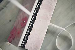 Papiernictvo - Scrapbook obálka na peniaze - kvety - 6802886_