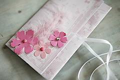 Papiernictvo - Scrapbook obálka na peniaze - kvety - 6802888_