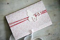 Papiernictvo - Scrapbook obálka na peniaze - motýľ - 6802922_