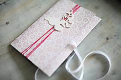 Papiernictvo - Scrapbook obálka na peniaze - motýľ - 6802924_