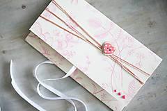 Papiernictvo - Scrapbook obálka na peniaze - gombíková - 6802963_