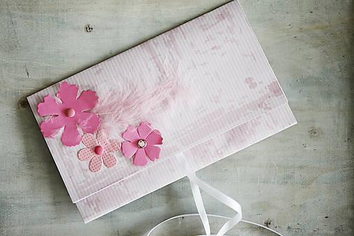 Scrapbook obálka na peniaze - kvety