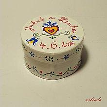 Iné šperky - Krabička na snubní prsteny - 6801877_