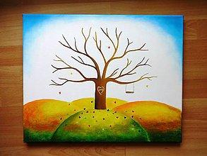Obrazy - Wedding tree IV - svadobný strom jesenný - 6802457_