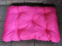 Pre zvieratká - Pelech pre psa z vodeodolnej látky, ružovo-čierny, 70 x 100 cm - 6802465_