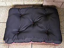 Pre zvieratká - Pelech pre psa z vodeodolnej látky, ružovo-čierny, 70 x 100 cm - 6802467_