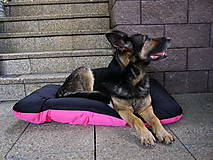 Pre zvieratká - Pelech pre psa z vodeodolnej látky, ružovo-čierny, 70 x 100 cm - 6802471_