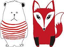 Tričká - Detské tričká (Pruhovaná líška červená) - 6802066_