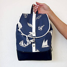 Batohy - Batôžtek (námornícky modrobiely) - 6802303_