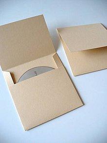 Papiernictvo - vanilkový obal na CD - 6802119_