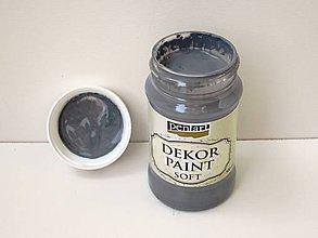 Farby-laky - Dekor Paint Soft-100ml grafitová sivá - 6803298_
