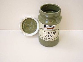 Farby-laky - Dekor Paint Soft-100 ml olivová - 6804274_