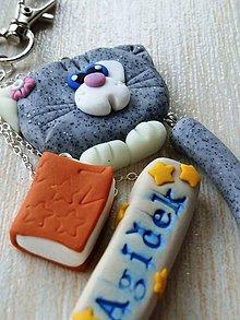 Kľúčenky - Kľúčenka s mačičkou a menom - 6803385_