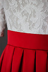 Šaty - Spoločenské šaty so skladanou sukňou rôzne farby - 6803162_