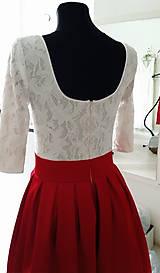 Šaty - Spoločenské šaty so skladanou sukňou rôzne farby - 6803163_
