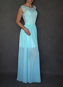 Šaty - Spoločenské šaty s krajkovým holým chrbátom - 6802932_