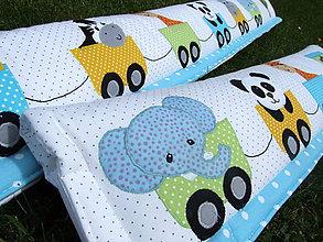 Textil - poťah na zábrany postele + hniezdočko do postieľky - 6802345_