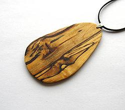 Náhrdelníky - Špaltovaná breza - ovoid - 6804251_