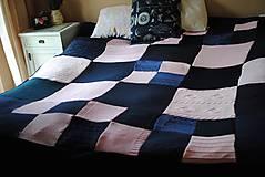 Úžitkový textil - Tmavomodroružová deka na dvojposteľ - 6805063_