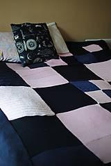 Úžitkový textil - Tmavomodroružová deka na dvojposteľ - 6805065_
