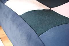 Úžitkový textil - Tmavomodroružová deka na dvojposteľ - 6805066_