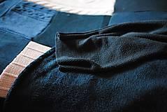 Úžitkový textil - Tmavomodroružová deka na dvojposteľ - 6805067_
