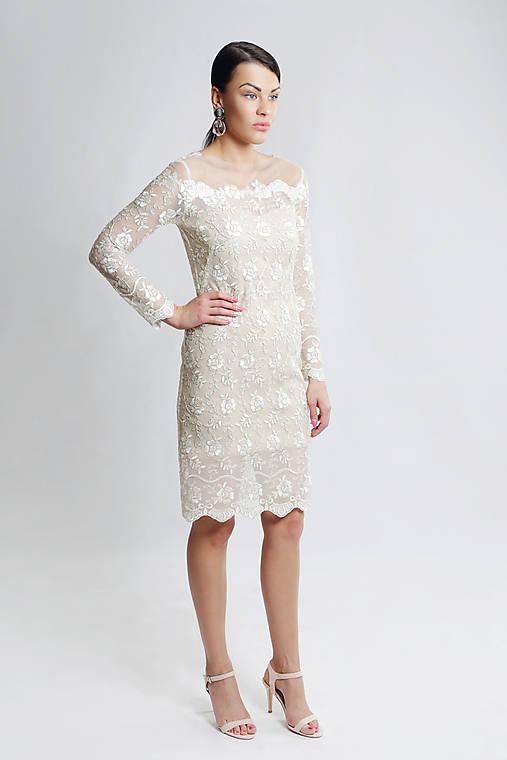 Čipkové šaty Biela káva   ceccilia - SAShE.sk - Handmade Šaty f0b048c0a39