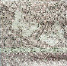 Papier - S723 - Servítky - motýľ, kvety, vintage - 6807319_