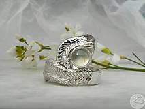 Prstene - Strieborné odlievané obrúčky-Láska hory prenáša - 6807882_