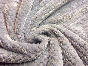 Textil - Baby soft - sivá - cena za 10 cm - 6807716_