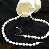 Náhrdelníky - Perlový náhrdelník svadobný - 6808192_