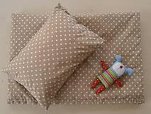 - Bavlnené obliečky detské béžové hviezdičky - 6805915_