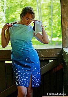 Šaty - Šaty batikované, maľované, folk HOLUBIENKA - 6805811_