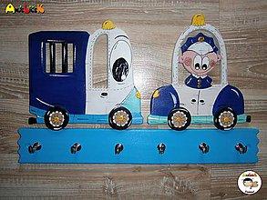 Nábytok - Vešiak - policajné autá - 6806501_