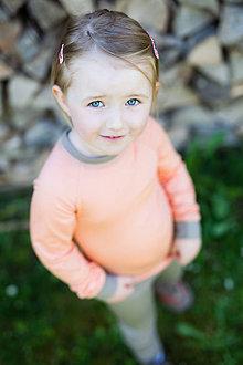 Detské oblečenie - Rostoucí triko dlouhý r. 100% LETNÍ merino : barvy na přání - 6808083_