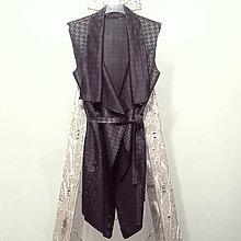 Iné oblečenie - Čierna vesta - 6806108_