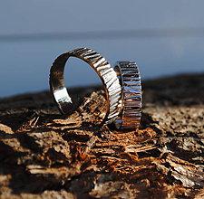 Prstene - Natural zlaté obrúčky - 6808656_