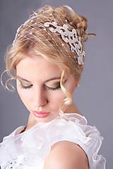 """Ozdoby do vlasov - francúzsky závoj biely """"Liana"""" typ 89-a. - 6809559_"""