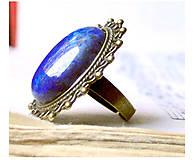 Antique Lapis Lazuli / Prsteň s lazuritom v bronzovom prevedení