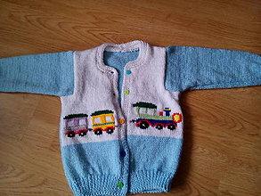 Detské oblečenie - Chlapčenský svetrík-vláčik 2 - 6809282_