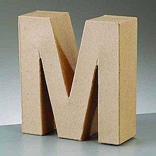 Polotovary - Papierové písmeno M - 6809694_