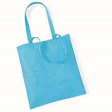 Polotovary - Bavlnená taška Modrá svetlá - 6810163_