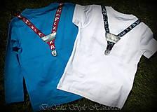 Detské oblečenie - Spoločenské pohodlné s motýlikom pre chlapčeka - 6809725_